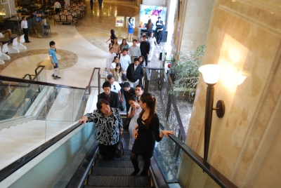 Parenthood is like riding in escalator-you maybe up or down.