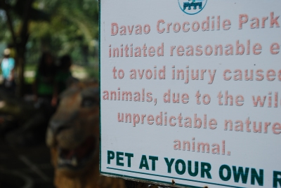 Christmas is for Santa Claus and a crododile park is for crocodile