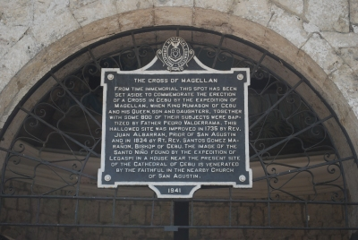 Hypocrisy and paganism of the Magellan's cross is still preserved in Cebu City, Philippines
