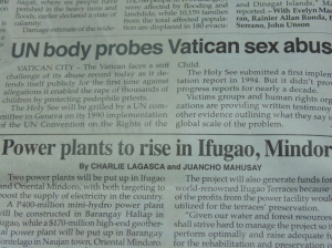 The Philippine Star news on Vatican sex abuse.