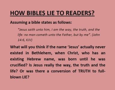 The lying bible