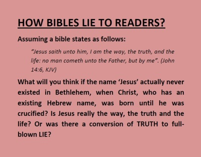 Revised Lying Bible