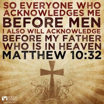 Matthew 10:32